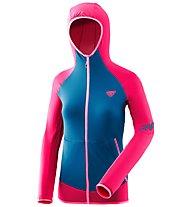 Dynafit Transalper Light Polartec - giacca in pile con cappuccio - donna, Pink/Blue