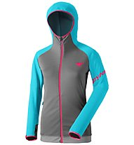 Dynafit Transalper Thermal - giacca in pile con cappuccio - donna, Light Grey/Blue
