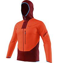 Dynafit Traverse Dynastretch - giacca trail running - uomo, Orange/Dark Red/Light Blue