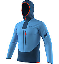 Dynafit Traverse Dynastretch - giacca trail running - uomo, Light Blue/Blue/Red