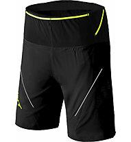 Dynafit Ultra 2/1 - pantaloni trekking corti - uomo, Black/Yellow