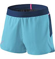 Dynafit Vert - pantaloni trail running - donna, Light Blue/Blue/Pink