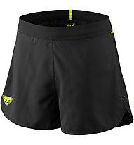 Dynafit Vertical 2 - pantaloni corti trail running - uomo, Black/Yellow