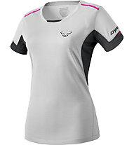 Dynafit Vertical 2 - T-shirt trail running - donna, Light Grey/Black/Pink