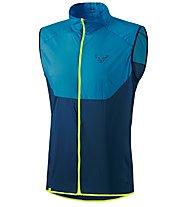 Dynafit Vertical Wind 49 - gilet trail running - uomo, Light Blue/Blue/Yellow