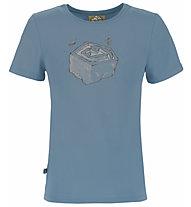 E9 B Space - Kinder-Kletter-T-Shirt, Light Blue