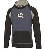 E9 Baco T-Shirt Felpa con cappuccio arrampicata, Blue
