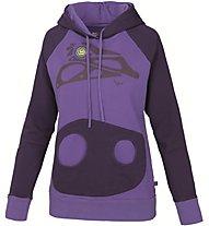 E9 Graffio Damen Kletter-Pullover mit Kapuze, Violet