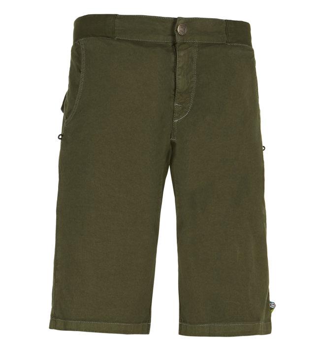 E9 Kroc Flax - pantaloni corti arrampicata - uomo, Green