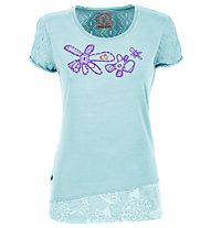 E9 Odré - Damen-Kletter-T-Shirt, Light Blue