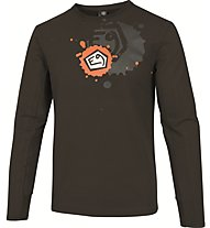 E9 Squad T-Shirt Maglia a manica lunga arrampicata, Brown