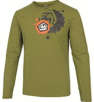 E9 Squad T-Shirt Maglia a manica lunga arrampicata, Green