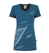 E9 T-Leaf - T-Shirt - Damen, Blue