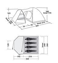 Easy Camp Blazar 400 - tenda, Green