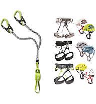 Edelrid Set bestehend aus Klettersteigset Cable Comfort + Gurt und Helm Ihrer Wahl
