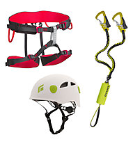 Edelrid Kit composto da imbrago + set via ferrata + casco