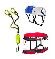 Edelrid Kit composto da set via ferrata + imbrago + casco