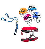 Edelrid Set bestehend aus Klettersteigset + Klettergurt + Helm