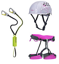 Edelrid Kit donna composto da set via ferrata + imbrago + casco