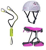 Edelrid Damen-Set bestehend aus Klettersteigset + Klettergurt + Helm