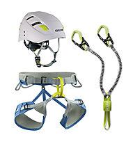 Edelrid Jay Kit II - Klettersteigset + Gurt + Helm, Blue/Green/White