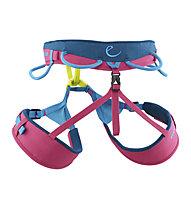 Edelrid Jayne - imbrago basso per arrampicata - donna, Blue/Pink