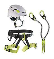 Edelrid Joker Kit II - Klettersteiset + Gurt + Helm, Black/Green/White
