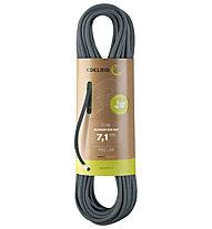 Edelrid Skimmer Pro Dry 7.1 mm - mezza corda/gemella, Black