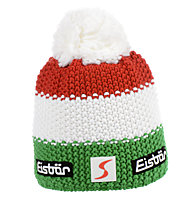 Eisbär Star Pompon Berretto Donna, Green/Red