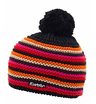 Eisbär Fan Merino-Wollmütze, Black/Red/Yellow