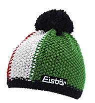 Eisbär Turbo Pompon Merino-Wollmütze mit Bommel, Red/White/Green