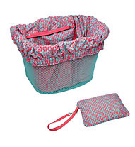 Electra Basket Liner, Pink/Triangles