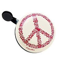 Electra Peace Ding-Dong Cream - campanello bici, White/Red