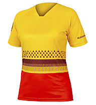 Endura Women's SingleTrack Print T - Mountainbikeshirt - Damen, Yellow