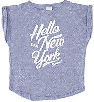 Everlast Jersey Poliestere Melange - T-Shirt Mädchen, Dark Blue