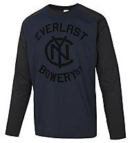 Everlast Light Jersey Mano Carbonio Maglia maniche lunghe fitness, Blue