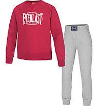 Everlast Tuta sportiva fitness - bambino, Red/Grey