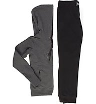 Everlast Tuta Felpa Stretch Giacca con cappuccio fitness donna, Grey/Black
