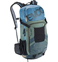Evoc FR Enduro Team 16L MTB-Radrucksack mit Rückenprotektor, Blue/Green