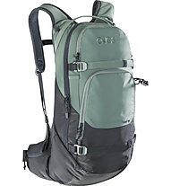 Evoc Line 18L - zaino freeride, Black/Green