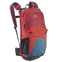 Evoc Stage 12 l Radrucksack, Petrol/Red/Ruby