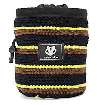 Evolv Knit Chalk Bag - portamagnesite, Black/Yellow