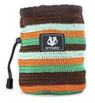 Evolv Knit Chalk Bag - portamagnesite, Brown/Green