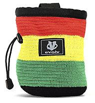 Evolv Knit Chalk Bag - portamagnesite, Red/Yellow