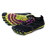 Fivefingers V-Run Women - scarpe trail running donna, Black/Yellow/Purple