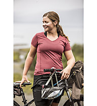 Fjällräven Abisko Cool - T-shirt - donna, Dark Red