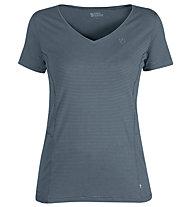 Fjällräven Abisko Cool - T-shirt - donna, Blue/Light Blue