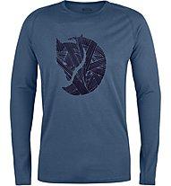 Fjällräven Abisko Trail - langärmeliges Shirt Trekking - Herren, Blue