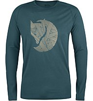 Fjällräven Abisko Trail - langärmeliges Shirt Trekking - Herren, Green