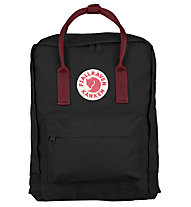 Fjällräven Kanken 16 L - Zaino, Black/Dark Red
